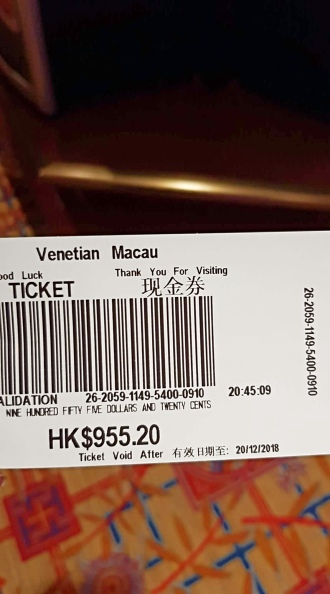 casino ticket